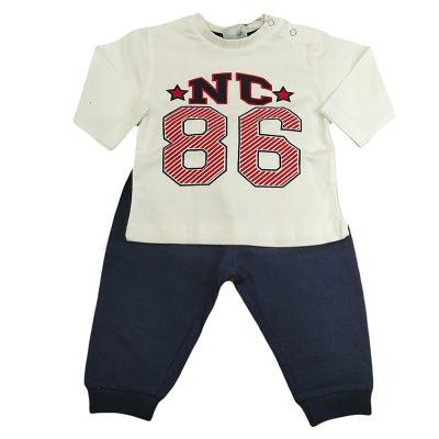 Φόρμα λεπτή nc86 λευκή-μπλε
