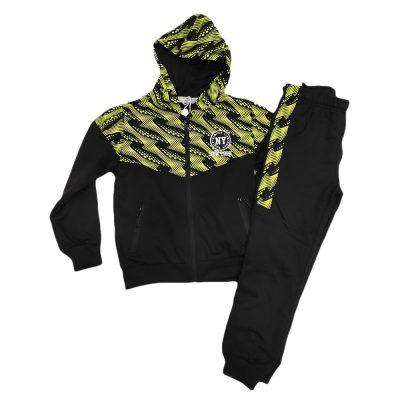 Φόρμα ανοιξιάτικη με ζακέτα μαύρη-πράσινη