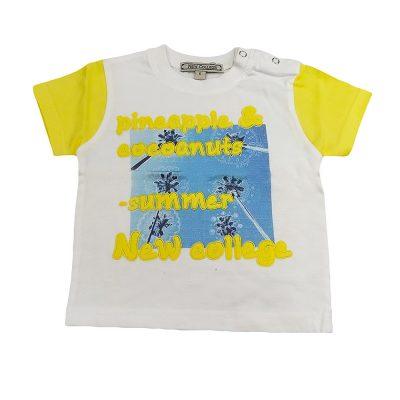 Μπλούζα summer λευκή/κίτρινη