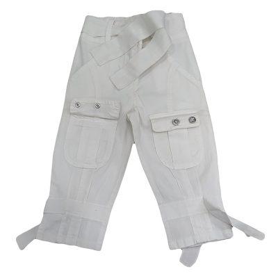 Παντελόνι κάπρι λευκό με τσεπάκια