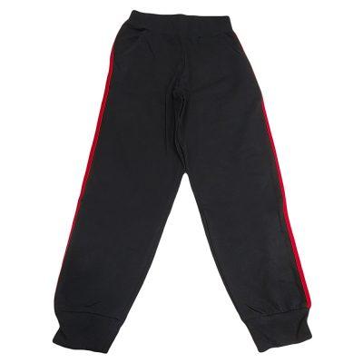 Παντελόνι φόρμας ανοιξιάτικο μαύρο με ρίγα