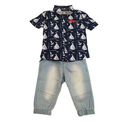 Σετ καραβάκια πουκάμισο-παντελόνι
