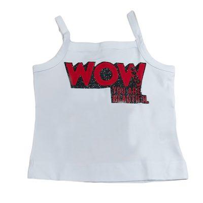 Μπλουζάκι wow λευκό