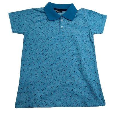 Μπλούζα με γιακά γαλάζια