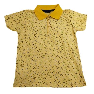Μπλούζα με γιακά κίτρινη