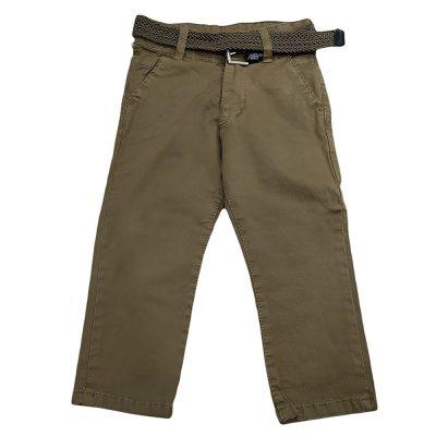 Παντελόνι λαδί με ζώνη