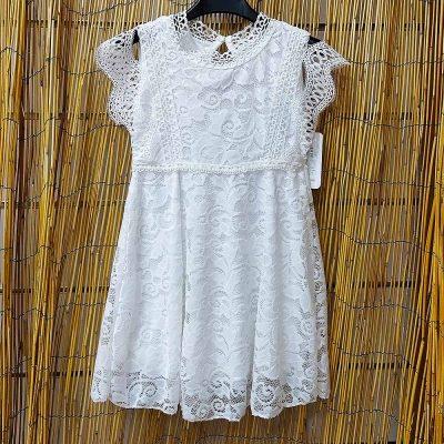 Φόρεμα λευκό δαντέλα