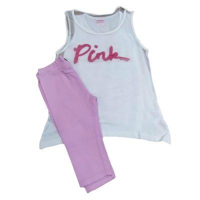 Σετ 3τμχ pink λευκό-ροζ