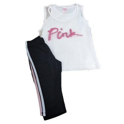 Σετ 3τμχ pink λευκό-μαύρο
