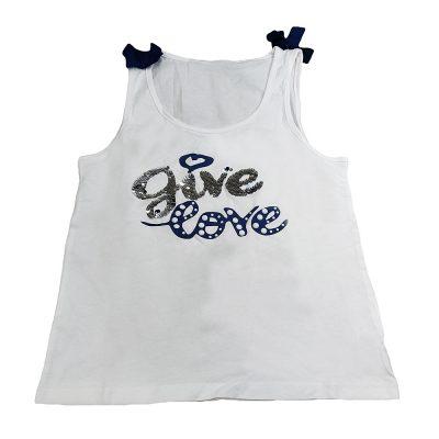 Μπλούζα give love λευκή