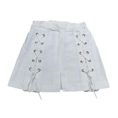 Φούστα λευκή λινή