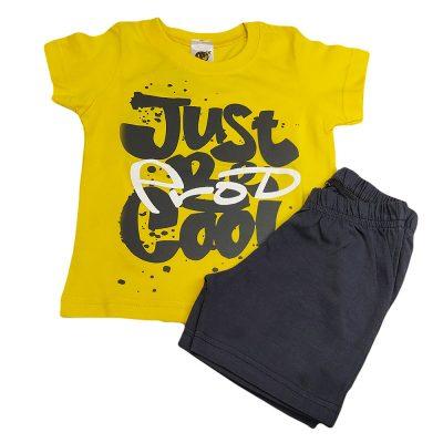 Σετ μακό just cool κίτρινο