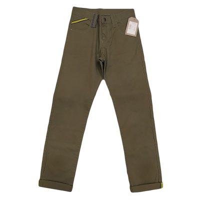 Παντελόνι υφασμάτινο λαδί σκούρο
