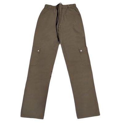 Παντελόνι υφασμάτινο χακί με τσέπες