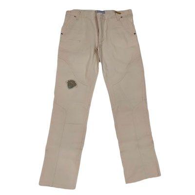 Παντελόνι υφασμάτινο εκρού με σχεδιάκι