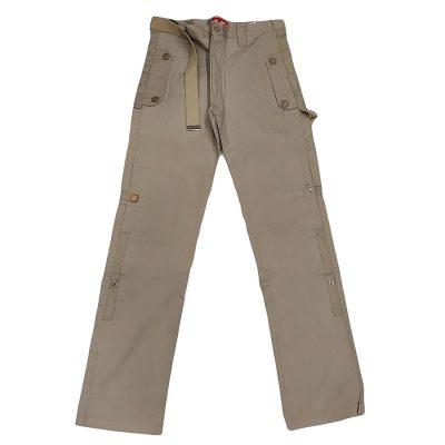 Παντελόνι υφασμάτινο με ζώνη και κουμπιά