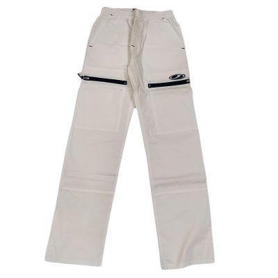 Παντελόνι υφασμάτινο λευκό-μπλε