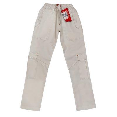 Παντελόνι τύπου τζιν λευκό