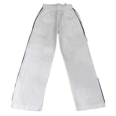 Παντελόνι λευκό υφασμάτινο με ρίγα