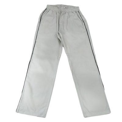 Παντελόνι υφασμάτινο γκρι με ρίγα