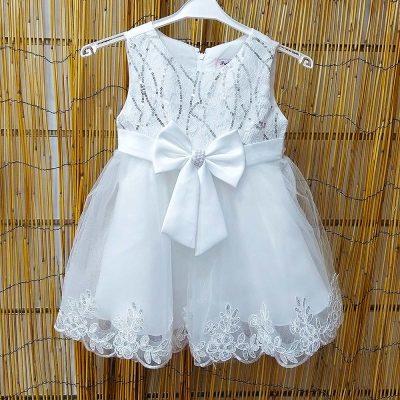 Φόρεμα λευκό τούλινο