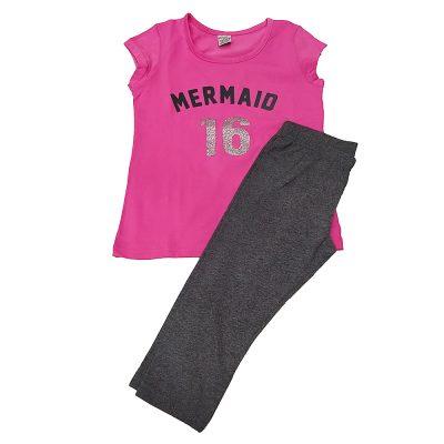 Μπλουζοφόρεμα mermaid 16 ροζ