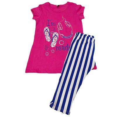 Μπλουζοφόρεμα με ριγέ κολάν φουξ