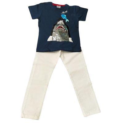 Σετ με υφασμάτινο παντελόνι καρχαρίας