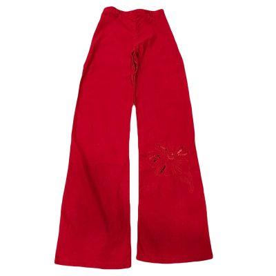 Παντελόνα λινή κόκκινη