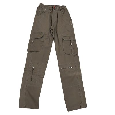 Παντελόνι υφασμάτινο χακί