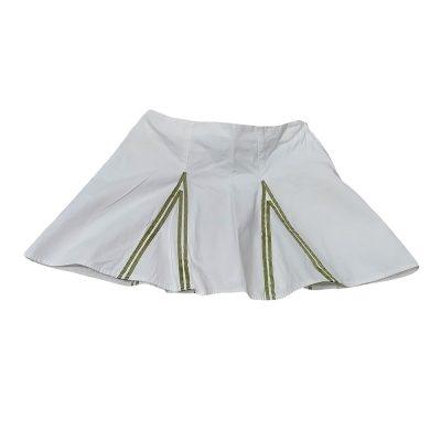 Φούστα υφασμάτινη λευκή-χακί