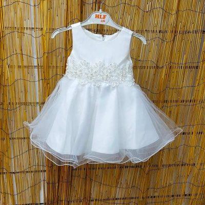 Φόρεμα λευκό με τούλι