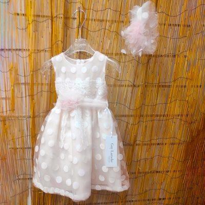 Βαπτιστικό φόρεμα Guy Laroche ροζ-σομόν