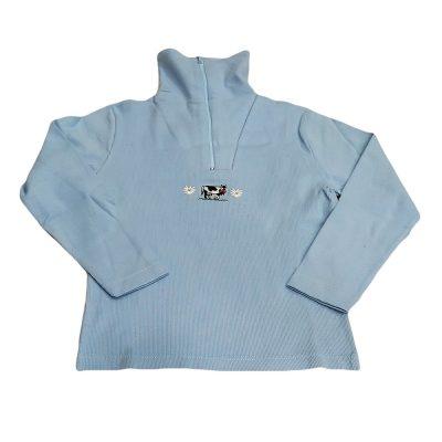 Μπλούζα γαλάζια με φερμουάρ