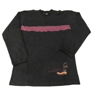 Μπλούζα μαύρη-μωβ