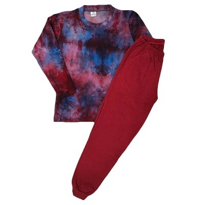 Φόρμα tie dye μπορντό