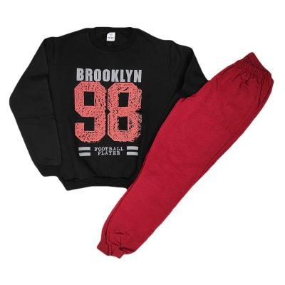 Φόρμα brooklyn μαύρη-μπορντό