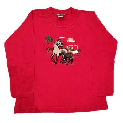 Μπλουζάκι αλογο κόκκινη