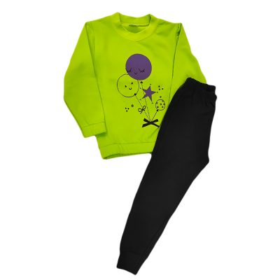 Φόρμα μπαλονάκια πράσινη-μωβ