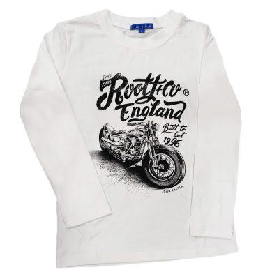 Μπλούζα μηχανή λευκή