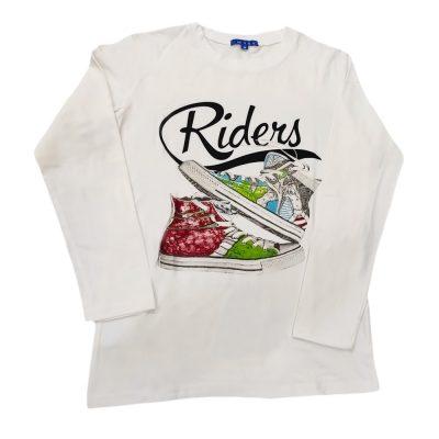 Μπλουζα sneakers λευκή