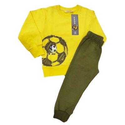 Φόρμα λεπτή μπάλα κίτρινη/χακί